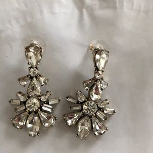 JCrew Rhinestone Dangle Earrings
